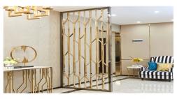 长客厅如何做不锈钢隔断?
